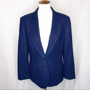 Pendleton Navy Blue Two-Button Blazer
